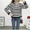 TE6640BYZJ Korean fashion joker stripes preppy style long sleeve t-shirt