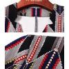 TE6676VIP Autumn new style v neck geometry print slim tight hip dress