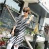 TE9950WJYS Color matching stripes half sleeve long shirt