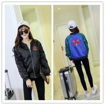 TE681YRYY 2016 Autumn Korean fashion embroidery two side wear baseball coat