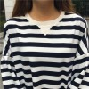TE690YRYY Autumn new style oversize stripes pullover sweatshirt
