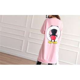TE1506GJWL Loose casual comfortable joker cartoon print long t-shirt