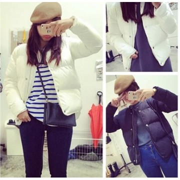TE5933YRYY Thicken warn stand collar cotton-padded jacket