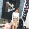 TE9668ATSS Korean fashion boat neck slim knitting tops