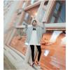 TE9674ATSS Preppy style pure color zipper fleece with cap