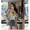 TE9675ATSS Korean fashion casual joker zipper fleece with cap