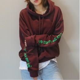 TE9683ATSS New style loose casual letters print hoodie