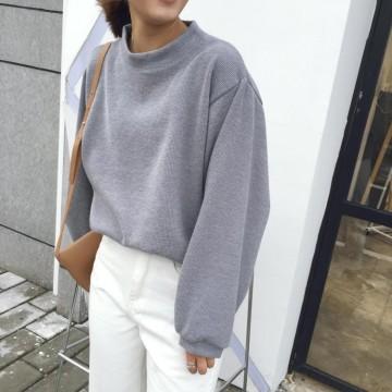 TE9685ATSS Preppy style round neck fashion pullover sweatshirt
