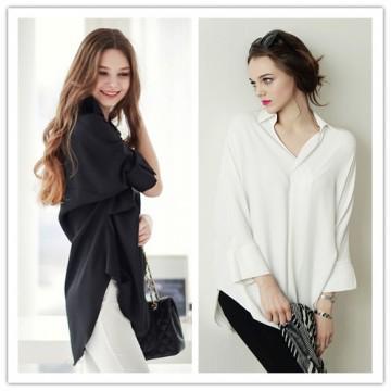 TE1368GJWL Euramerican fashion loose joker irregular blouse