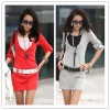 TE1370GJWL Korean fashion casual temperament belt dress