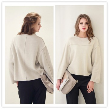 TE1384GJWL New style Europe fashion loose casual thicken wool tops