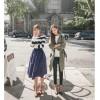 TE1391GJWL New style Korean fashion casual loose drawstring waist windcoat