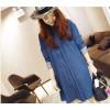 TE1393GJWL Korean fashion loose casual denim slit dress