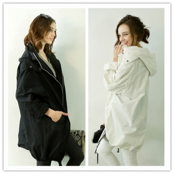 TE1395GJWL Euramerican fashion loose casual wind coat with cap