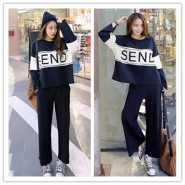 TE1508GJWL Loose casual splicing print tracksuit