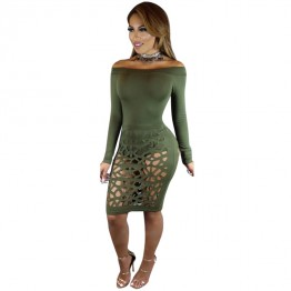 TE1193BNYR Hot sale Euramerican fashion sexy burn out holes bandage dress