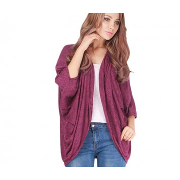 TE1195BNYR Hot sale Euramerican fashion batwing sleeve cardigan