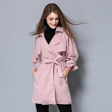 TE5681OSMY New style pink puff sleeve bishop sleeve lacing waist coat