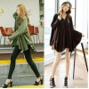 TE6483YZS New style batwing sleeve A-line v neck large size tops
