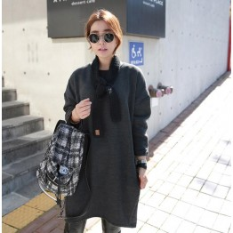 TE6488YZS Korean fashion thicken loose large size trendy pullover sweatshirt