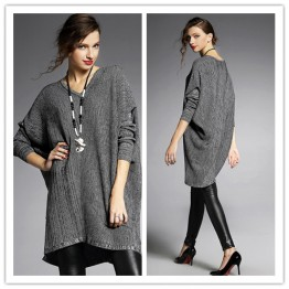 TE6489YZS Euramerican fashion batwing sleeve wool flock loose pull over sweater
