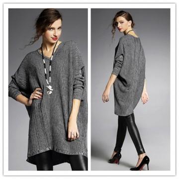 TE6489YZS Euramerican fashion batwing sleeve wool flock loose pull over sweater
