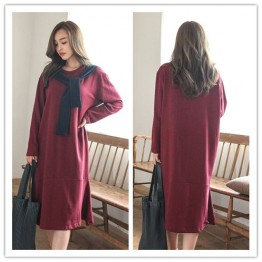 TE1510GJWL Loose fashion color matching scarf fishtail long dress