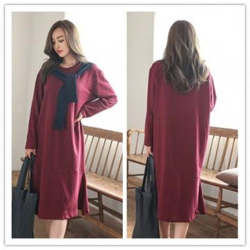 TE1510GJWL Loose fashion color matching scarf fishtail long dress