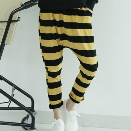 TE1514GJWL Casual comfortable joker stripes harem pants