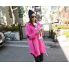TE1517GJWL Loose fashion star embroidery thicken sueded fleece coat with cap