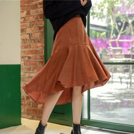TE1518GJWL New style Korean fashion irregular wide hem skirt