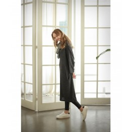 TE1520GJWL Autumn comfortable joker thicken wool flock long dress