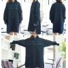 TE1515GJWL Fashion joker tassel edge irregular thicken denim coat