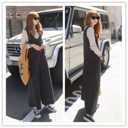 TE1527GJWL Casual loose comfortable wide leg vest jumpsuit