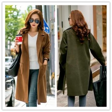 TE1528GJWL New style Korean fashion temperament joker two-sided wool coat