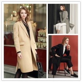 TE1529GJWL Euramerican fashion suit collar joker two-side woolen coat