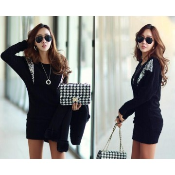 TE9705ATSS Autumn new style OL temperament long sleeve tight hip dress