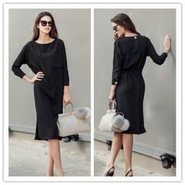 TE1423GJWL Euramerican fashion elegant temperament waist slit dress
