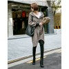 TE1536GJWL Autumn style loose zipper coat with cap