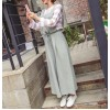 TE6514YZS Suspender corduroy slim waist wide leg jumpsuit