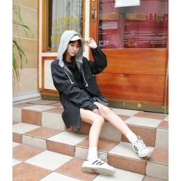 TE3086YZS Pocket lacing cap denim coat