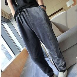 TE1542GJWL Loose casual drawstring waist casual pants
