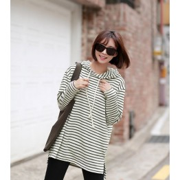 TE1554GJWL Winter stripes thicken hoodies