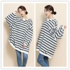 TE1559GJWL New style fashion large size cross stripes t-shirt