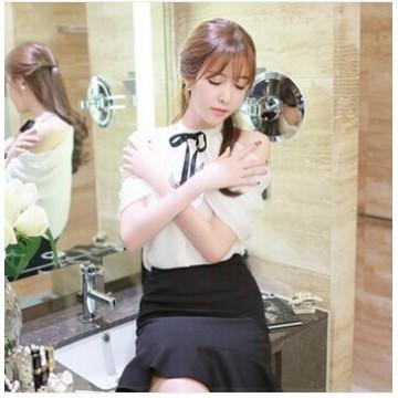 TE1456GJWL Sweet Korean fashion bowknot neck elegant joker shirt