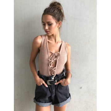 TE3011NX Hot sale sexy lacing sleeveless jumpsuits
