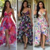 TE6220QQZJ Hot sale print beach dress