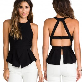 TE6221QQZJ Hot sale backless t-shirt