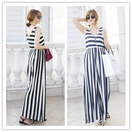 TE1469GJWL New fashion v neck backless wide leg jumpsuit