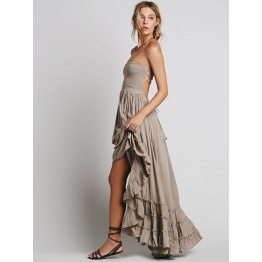 TE7168WYZ Sexy backless halter maxi beach dress